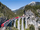 Swiss Glacier Express and the Bernina